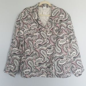 26W Paisley button front shirt Cato